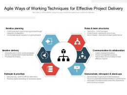 Agile Ways Of Working Techniques For Effective Project Delivery