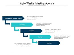 Agile Weekly Meeting Agenda Ppt Powerpoint Presentation Inspiration Brochure Cpb