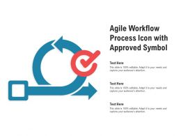 Agile Workflow Process Icon With Approved Symbol