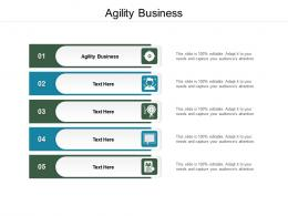 Agility Business Ppt Powerpoint Presentation Infographic Template Sample Cpb
