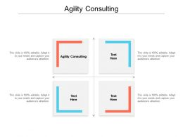 Agility Consulting Ppt Powerpoint Presentation Icon Cpb