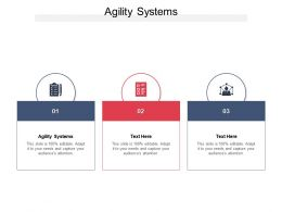 Agility Systems Ppt Powerpoint Presentation Portfolio Template Cpb