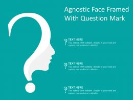 Agnostic Face Framed With Question Mark