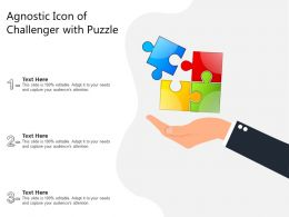 Agnostic Icon Of Challenger With Puzzle