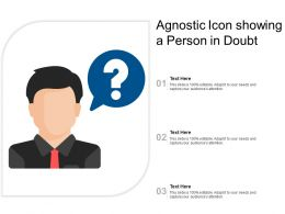 Agnostic Icon Showing A Person In Doubt