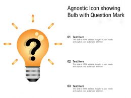 Agnostic Icon Showing Bulb With Question Mark