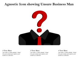 Agnostic Icon Showing Unsure Business Man