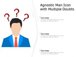 Agnostic Man Icon With Multiple Doubts
