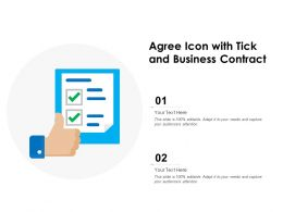 Agree Icon With Tick And Business Contract