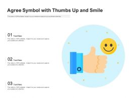 Agree Symbol With Thumbs Up And Smile