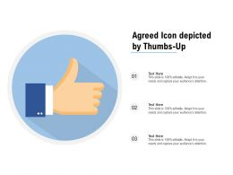 Agreed Icon Depicted By Thumbs Up