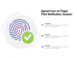 Agreed Icon On Finger Print Verification Scanner