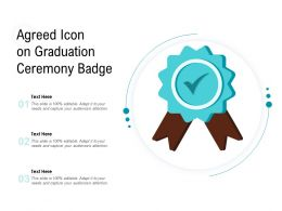 Agreed Icon On Graduation Ceremony Badge