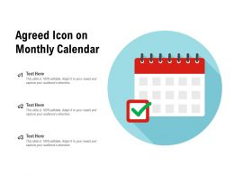 Agreed Icon On Monthly Calendar