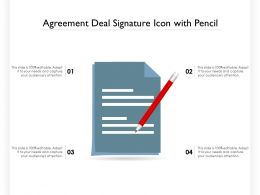 Agreement Deal Signature Icon With Pencil
