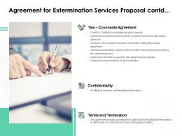 Agreement For Extermination Services Proposal Contd Ppt Styles Tips
