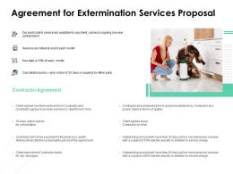 Agreement For Extermination Services Proposal Ppt Icon Visuals