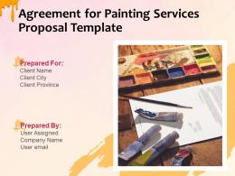 Agreement For Painting Services Proposal Template Powerpoint Presentation Slides