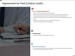 Agreement For Pest Control Contd Ppt Powerpoint Presentation Gallery