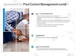 Agreement For Pest Control Management Contd Ppt Powerpoint Presentation Tips