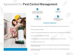 Agreement For Pest Control Management Ppt Powerpoint Presentation File Images