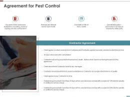 Agreement For Pest Control Ppt Powerpoint Presentation Professional