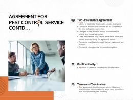 Agreement For Pest Control Service Contd Ppt Powerpoint Presentation Outline Graphics