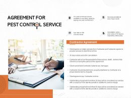 Agreement For Pest Control Service Ppt Powerpoint Presentation Styles Background Designs