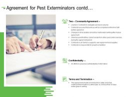 Agreement For Pest Exterminators Contd Ppt Powerpoint Presentation Graphics