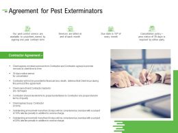 Agreement For Pest Exterminators Ppt Powerpoint Presentation Outline Inspiration