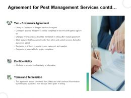 Agreement For Pest Management Services Contd Ppt Portfolio Format