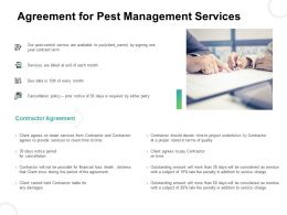 Agreement For Pest Management Services Ppt Gallery Icon