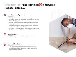 Agreement For Pest Termination Services Proposal Contd Ppt Powerpoint Presentation Ideas
