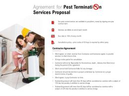 Agreement For Pest Termination Services Proposal Ppt Powerpoint Presentation Model Clipart