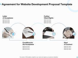 Agreement For Website Development Proposal Template Ppt Powerpoint Presentation Gallery