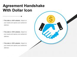 Agreement Handshake With Dollar Icon