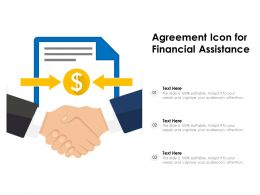 Agreement Icon For Financial Assistance