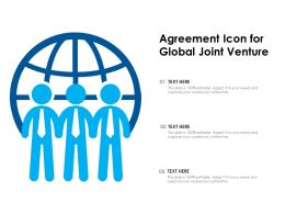 Agreement Icon For Global Joint Venture