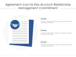 Agreement Icon For Key Account Relationship Management Commitment