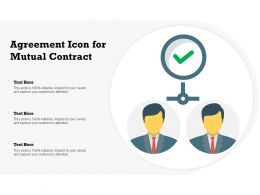 Agreement Icon For Mutual Contract