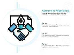 Agreement Negotiating Icon With Handshake