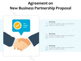 Agreement On New Business Partnership Proposal