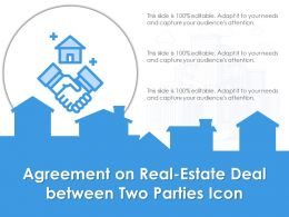 Agreement On Real Estate Deal Between Two Parties Icon