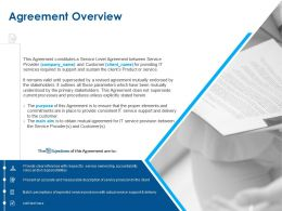 Agreement Overview Service Ppt Powerpoint Presentation Infographic Template Designs