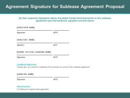 Agreement Signature For Sublease Agreement Proposal Ppt Powerpoint Presentatio Layout