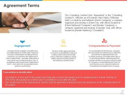 Agreement Terms Compensation Ppt Powerpoint Presentation Styles Professional