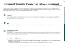 Agreement Terms For Commercial Sublease Agreement Ppt Styles Inspiration