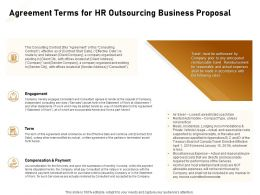 Agreement Terms For HR Outsourcing Business Proposal Ppt Powerpoint Presentation Gallery