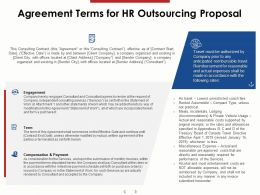 Agreement Terms For HR Outsourcing Proposal Ppt Powerpoint Presentation Infographic