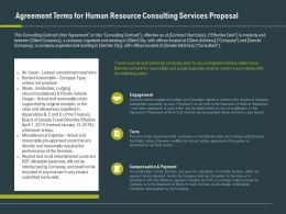Agreement Terms For Human Resource Consulting Services Proposal Ppt Slide Design